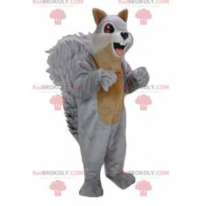 Mascote gigante esquilo cinza e marrom - Redbrokoly.com