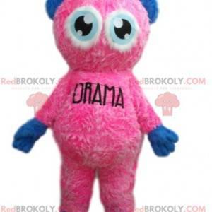 Very sweet little pink man mascot - Redbrokoly.com