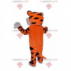 Very enthusiastic tiger mascot. Tiger costume - Redbrokoly.com