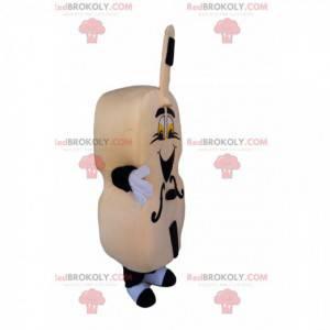 Sehr begeistertes beige Cellomaskottchen. - Redbrokoly.com