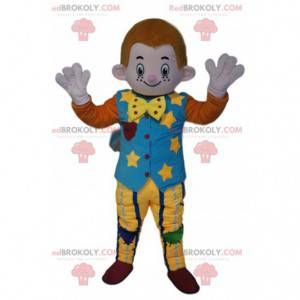 Mascot little red-haired man with a vintage costume -