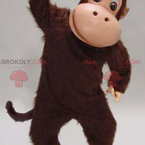 Myk og hårete brun sjimpanse ape maskot - Redbrokoly.com