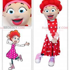 Dziewczyna maskotka z rudymi włosami - Redbrokoly.com