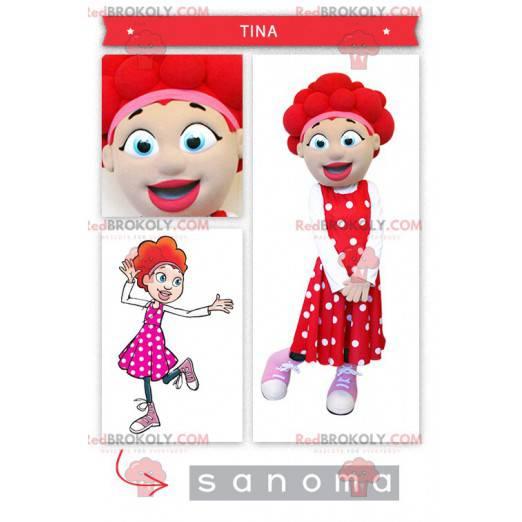 Jentemaskot med rødt hår - Redbrokoly.com