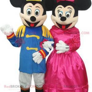 Sehr elegantes Mickey und Minnie Duo Maskottchen -