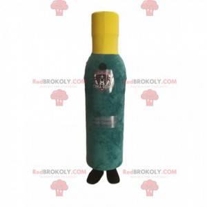 Green and yellow bottle mascot. Bottle costume - Redbrokoly.com