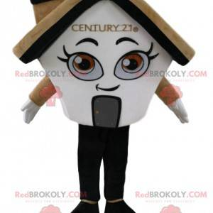 Cream and white house mascot, with a fireplace - Redbrokoly.com