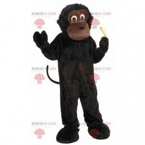Small gorilla chimpanzee brown monkey mascot - Redbrokoly.com