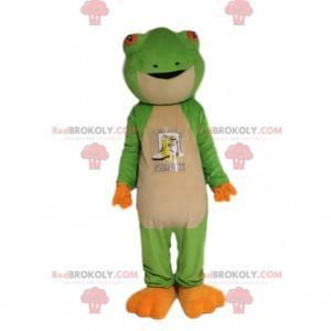 Muy bonita mascota de la rana verde. Disfraz de rana -