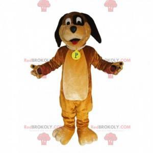 Legrační hnědý pes maskot. Kostým pro psa - Redbrokoly.com