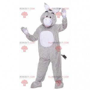 Gray and white eeyore donkey mascot - Redbrokoly.com