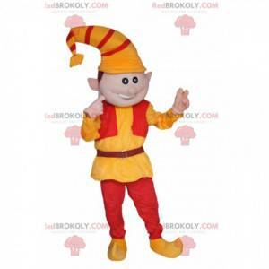 Leprechaun mascot with a yellow and red hat - Redbrokoly.com