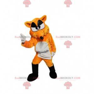 Orange and white fox mascot. Fox costume - Redbrokoly.com