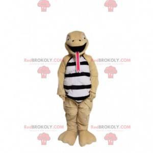 Sjov beige slangemaskot. Slange kostume - Redbrokoly.com