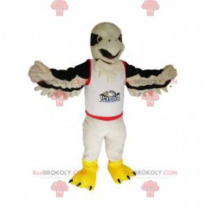 White golden eagle mascot in a supporter jersey - Redbrokoly.com
