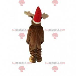 Maskot sobů s vánoční čepicí. Kostým sobů - Redbrokoly.com
