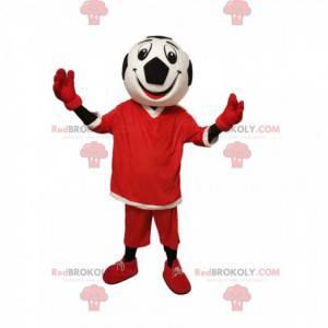 Maskot postavy s velmi usměvavou hlavou fotbalového míče! -