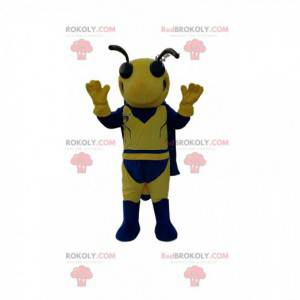 Mascote de vespa amarela e azul. Fantasia de vespa -