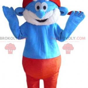 Mascote do Papa Smurf. Fantasia de papai smurf - Redbrokoly.com