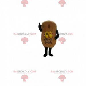 Mascote da batata amarela. Fantasia de batata amarela -