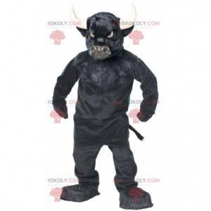 Velmi působivý maskot černého býka buvola - Redbrokoly.com