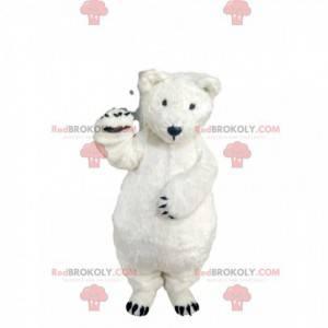 Velmi roztomilý maskot ledního medvěda. Kostým ledního medvěda