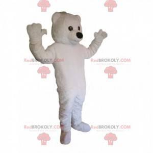 Very awake polar bear mascot. Polar bear costume -
