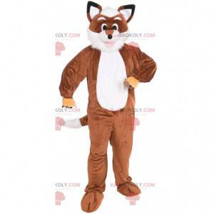Mascota zorro naranja y blanco todo peludo - Redbrokoly.com