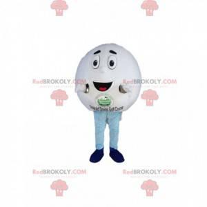 Velmi veselý maskot golfového míčku. Kostým golfového míčku -