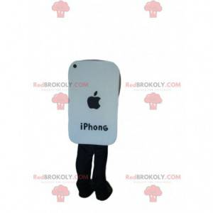 Roztomilý bílý chytrý telefon maskot - Redbrokoly.com