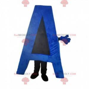Maskot písmeno A modrá. Dopis oblek - Redbrokoly.com