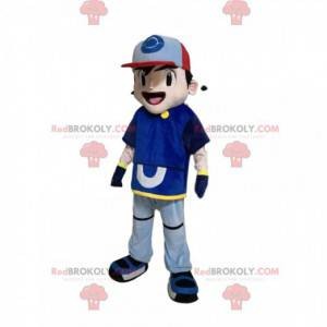 Boy mascot in sportswear with a cap - Redbrokoly.com