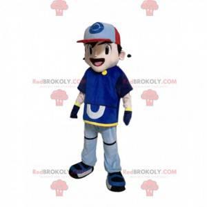 Guttemaskot i sportsklær med hette - Redbrokoly.com