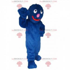 Very smiling blue monster mascot! - Redbrokoly.com