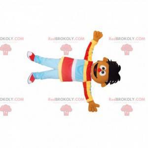 Chlapec maskot s originálními vlasy a červeným nosem! -