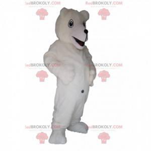 Polar bear mascot with a big smile - Redbrokoly.com