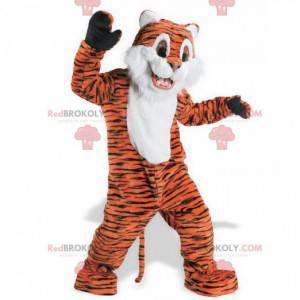 Søt og søt oransje hvit og svart tiger maskot - Redbrokoly.com