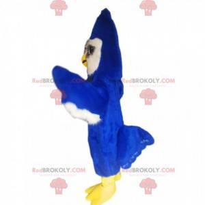 Majestatyczna maskotka niebieski ptak. Kostium niebieskiego