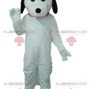 Maskot bílého psa s černými ušima. - Redbrokoly.com