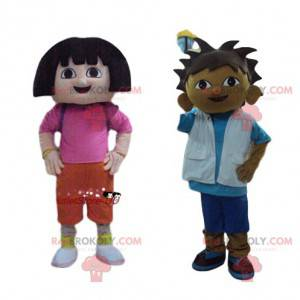 Explorer mascot duo. Explorers Costume Duo - Redbrokoly.com
