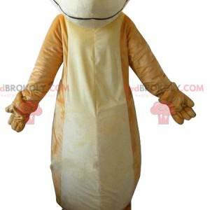 Mascot lagarto beige y blanco. Disfraz de lagarto -