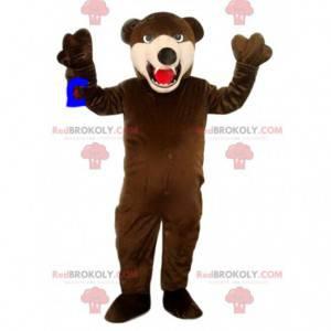 Brüllendes Braunbärenmaskottchen. Braunbär Kostüm -