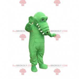 Mascote do crocodilo verde. Fantasia de crcocodilo -
