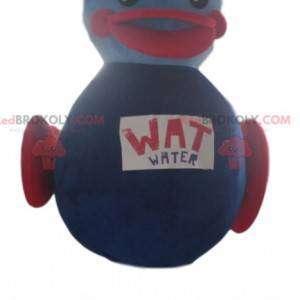 Mascota inflable del pato morado. Disfraz de pato -