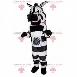 Fantastisk og sjov zebra maskot. - Redbrokoly.com