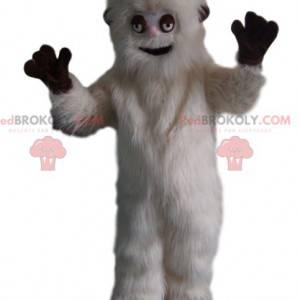 Wesoły biały miś grizzly maskotka. Kostium niedźwiedzia grizzly