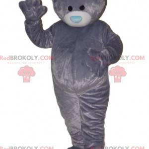 Velmi měkký medvěd maskot s modrou tlamou. - Redbrokoly.com