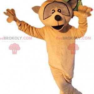 Mascot mapache beige. Disfraz de mapache - Redbrokoly.com