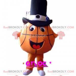 Koszykówka maskotka z cylindrem - Redbrokoly.com