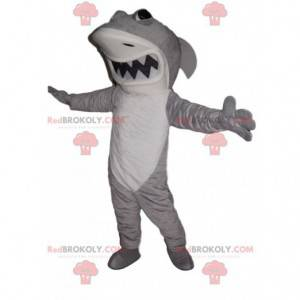 Maskottchen heftiger weißer und grauer Hai - Redbrokoly.com